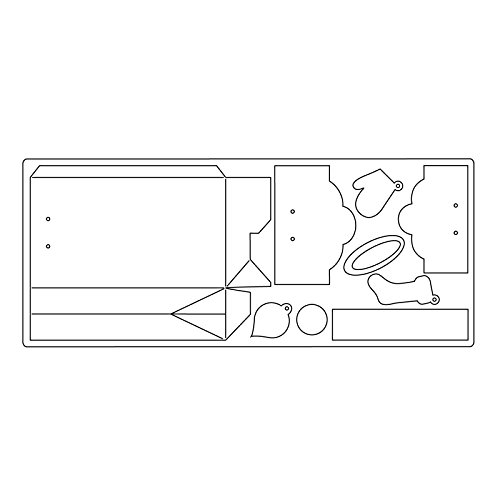 Sizzix 661557 Fustella Bigz XL Scatola avvoltaw/Tags di Lindsey Serata, ABS Plastic, Multicolore, 37.8x15.3x2 cm - 1