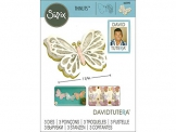 Sizzix 662392 Fustella Thinlits-Farfalla Delicata Grande di David Tutera, Acciaio,, 20.9 x 13.2 x 0.4 cm - 1