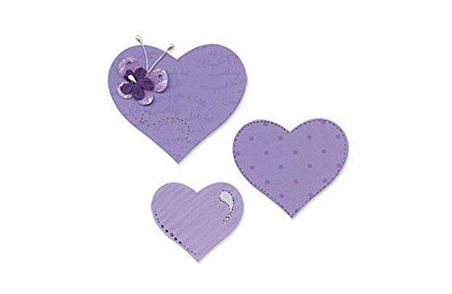 Sizzix Bigz Fustella Heart # 3 (B & W) - 1