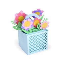 Sizzix Card in a Box Cesto di Fiori Fustella, Multicolore, taglia unica - 1
