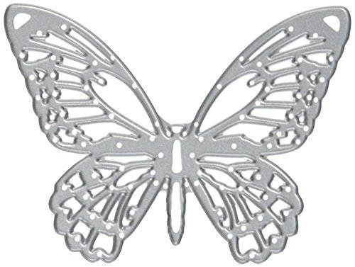 Sizzix Detailed Butterflies by Tim Holtz Thinlits Die Set, Carbon Steel, Multi-Colour, Pack of 4 by Sizzix - 1