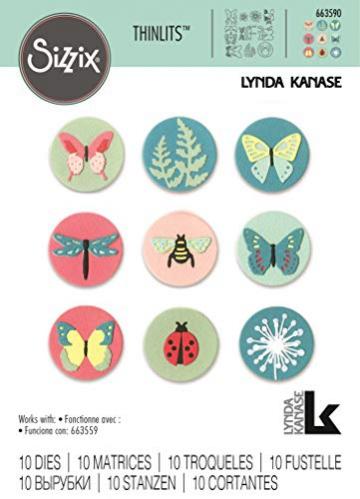 Sizzix Set di Fustelle Thinlits Elementi Naturali Mini by Lynda Kanase, 10 Pezzi - 3
