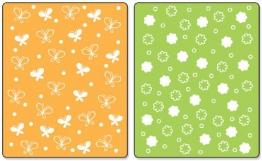 Sizzix Textured Impressions A2 Embossing Folders 2/Pkg-Butterflies & Flowers - 1