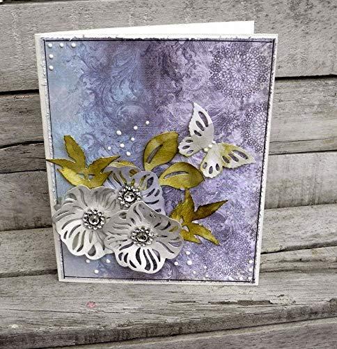 Sizzix Thinlits Die Set 4PK Bellezze Alate, Fustelle in Acciaio al Carbonio, 8.3cm x 5.1cm - 5.1cm x 2.5cm - 1