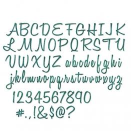 Sizzix Thinlits Fustella, Script Upper & Lower - 1