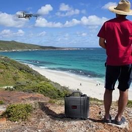 Smatree Custodia rigida impermeabile per DJI Mavic 2 Zoom/Mavic 2 Pro fly more kit (Drone e accessori non inclusi) - 1