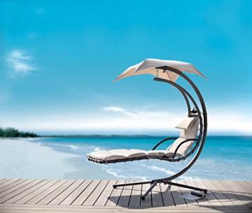 SoBuy® Amaca Extra Lusso Relax da Giardino,Lettino Prendisole, Poltrona a Dondolo, OGS16.IT - 3