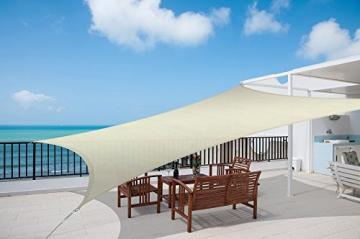Sol Royal Tenda a Vela Impermeabile 400x200 cm SolVision PS9 - Protezione Anti Raggi UV - Crema - Rettangolare - 3