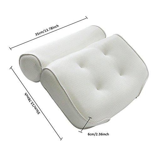 Somedays 3D mesh vasca da bagno cuscino vasca da bagno, spa, cuscino da bagno, schienale cuscino poggiatesta ventosa da bagno - 1