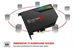 Sound BlasterX AE-5 Scheda Audio Interna PCIe Gaming ad alta risoluzione, DAC/amplificatore per cuffie (16-600 Ohm) con una striscia LED RGB per il suo PC - 1