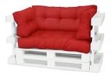 Spatium Cuscini per Pallet Euro Sedile 20 cm di spessore, Rosso, 120 x80 - 1