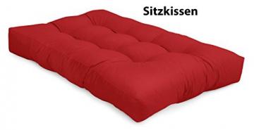Spatium Cuscini per Pallet Euro Sedile 20 cm di spessore, Rosso, 120 x80 - 2