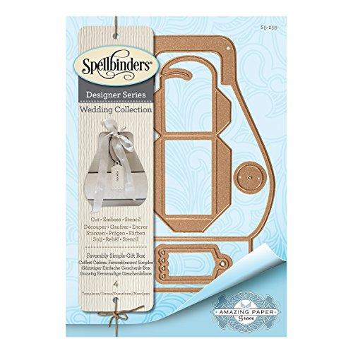 Spellbinders Shapeabilities Favorably Confezione regalo Die, in metallo, colore: marrone - 1