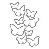 Spellbinders Shapeabilities-Fustelle, motivo: farfalle, in acrilico - 1
