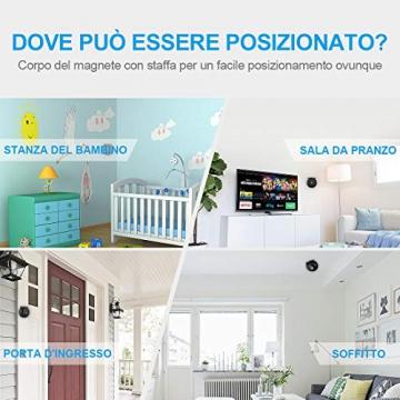 Spia Telecamera Nascosta AOBO Mini 1080P HD Microcamere WiFi IP Wireless Visione Notturna IR Rilevamento di Movimento Portatile Videocamera di Sorveglianza Video Registrazione in Loop - 1