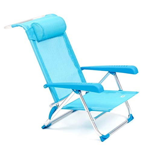 Spiaggina pieghevole Tahiti con braccioli struttura alluminio tubolare 22 mm blu - 1
