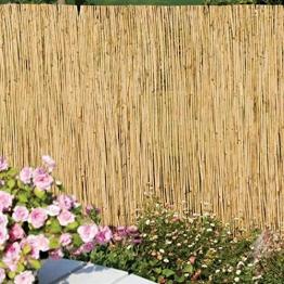 STI Arella canniccio stuoia cannette rilegate Ombra Recinzione Esterno 100x500cm - 1