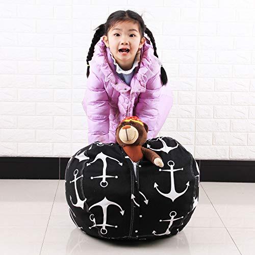 Stofftier Bean Bag Chair Sofa Cotton Canvas Sack Spielzeug Organizer für Kinder Lounger Möbel Decken Teddybären Kleidung,B,24Inch - 1