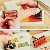 Tamponi di inchiostro per le dita, multicolori, per bambini, per album dei ritagli fai da te, timbri di gomma e biglietti 6Pack - 1