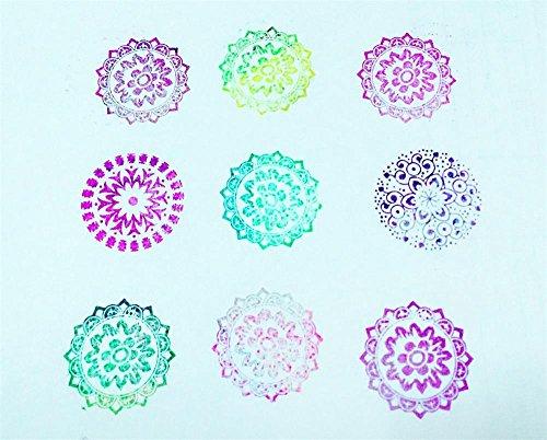 Tamponi per timbri,Tampone di inchiostro di impronte digitali 20 colori tampone inchiostro per timbri timbro cuscinetto inchiostro per fai da te e uso su carta legno tessuti Scrapbooking - 1