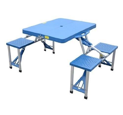 Tavolino da campeggio con 4 sedie - 1