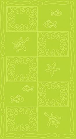 Telo mare XXL 100x200cm - 100% cotone 380g/m² - design Tartaruga - colore Verde - 1