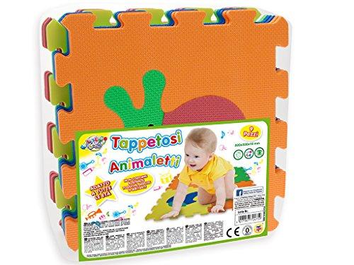 Teorema 72475 - Tappeto Puzzle con Animali, colori assortiti, 9 pezzi - 1