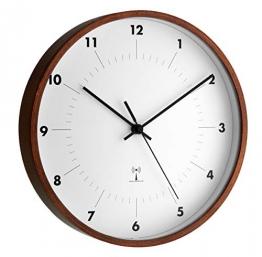 TFA Dostmann 98.1097 Orologio da parete con impiallacciatura in legno - 1