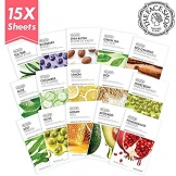 The Face Shop Real Nature Facial Mask Sheets (Pack of 15) - 1