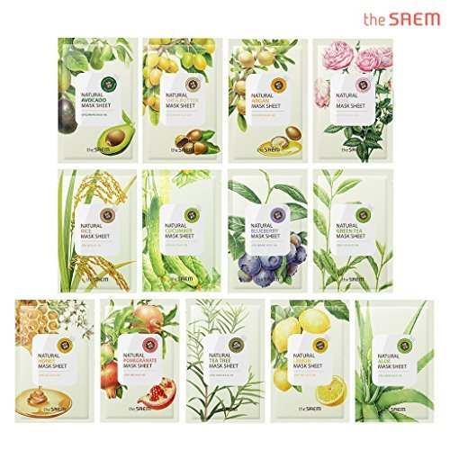 The saem Natural Facial Mask Sheet 21ml x 13 Sheets - 1