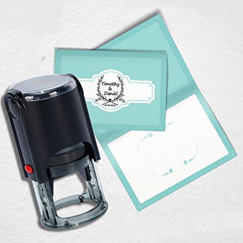 Timbro matrimonio personalizzato,Personalizzato timbro- uso in matrimonio inviti, Save the date, RSVP - 1