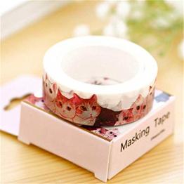 Ting-Times Washi Tape Set of 2, DIY Self Adhesive Washi Masking Tape Sticker Decorative Washi Tape Masking Tape Adhesive Scrapbooking DIY Craft Gift - 1