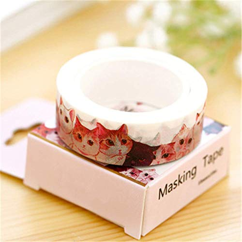 Ting-Times Washi Tape Set of 2, DIY Self Adhesive Washi Masking Tape Sticker Decorative Washi Tape Masking Tape Adhesive Scrapbooking DIY Craft Gift - 1