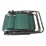 Todeco - Sedia Pieghevole A Gravità Zero, Sdraio Per Giardino - Carico massimo: 100 kg - Materiale: Textilene - 165 x 112 x 65 cm, Verde, Textilene, con cuscino - 1