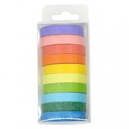 UClever 10 decorativo mascheratura Washi - Adesivo colorato arcobaleno Nastri Fai Da Te Nastri Etichette - 1