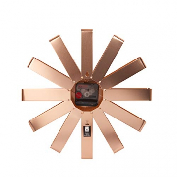 Umbra Ribbon Orologio da Parete Rame, Metallo, 30.48x30.48x5.21 cm 3 unità - 4