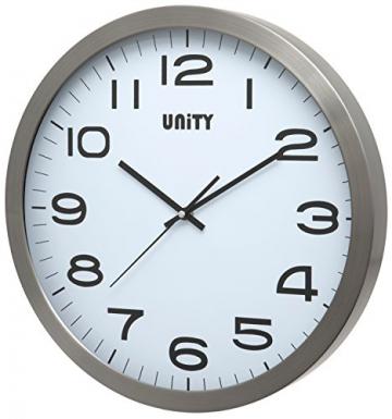 Unity Manhattan Orologio da Parete in Metallo, Argento, 40x 40x 3cm - 1