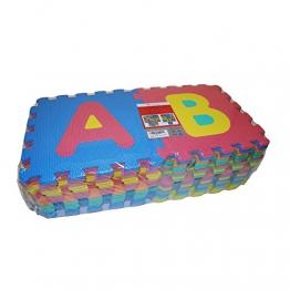 VeloVendo® - Tappeto Puzzle con Certificato CE e Certificazione TÜV in soffice Schiuma Eva | Tappeto da Gioco per Bambini | Tappetino Puzzle (Lettere + Numeri) - 1
