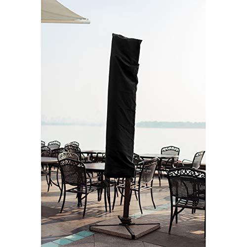 Velway Copertura per Ombrellone Rotonda Impermeabile 190CM Fodera Protettiva per Ombrellone Parasole da Spiaggia Giardino Balcone Copri con Cerniera Lampo Laterale e Cordicella in Basso - 1