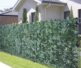 VERDELOOK Sempreverde® Point, Siepe Artificiale 1x3 m, Foglia edera, Decorazioni Giardino - 1