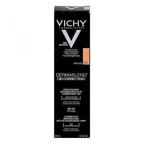 Vichy, Dermablend 3D Correction, fondotinta correttore, colore 55, 30 ml (etichetta in lingua italiana non garantita) - 1