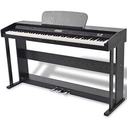vidaXL Pianoforte Digitale 88 Tasti e Pedali Melamina Nera Strumento Musicale - 1