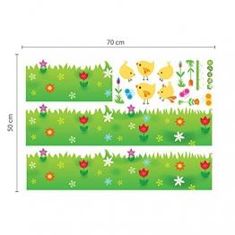 Walplus - 3 set di adesivi da parete per cameretta dei bambini: mod. DF5099 (Happy Animals), mod. WS3026 (Owl Tree Star), mod. AY763 (Little Chick Grass), multicolore - 1