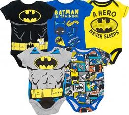 Warner Bros. Body Bimbo Divertenti - Batman, Robin, Joker e Riddler (Pacco da 5), Multicolore 12 Mesi - 1