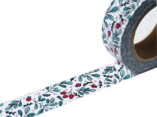 Washi tape, 15mm x 10metre rotoli solidi, brillante, oro/rame pellicola, vibrante stampe, scrapbooking, diario, biglietti, progetti artistici e nastro Green - 1