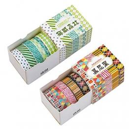 Washi tape Rolls set in quattro temi, 20PCS 10mm x 5meter hand-picked decorativo Craft supply nastri per scrapbooking per fai da te, 5roll/ogni confezione regalo a tema, Four Theme, quattro Tone - 1