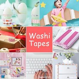 Washi Tape,Buluri 50 Nastro Adesivo Decorativo Lavaggio a Nastro Adesivo per Forniture Artigianali Fai da te e Decorazioni per Scrapbooking - 1