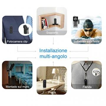 Wifi Micro Telecamera Nascosta Spia Subacquea,NIYPS 1080P Portatile Senza Fili Mini Telecamera Videosorveglianza con Visione Notturna,Sensore di Movimento y Batteria, Esterno/Interno Microcamere Spia - 1