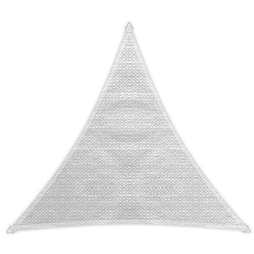 Windhager 10975 Tenda a vela Patio (3,6 x 3,6 x 3,6 m), bianco - 1