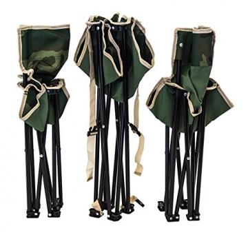 XONE Set POLTRONE Pieghevoli E TAVOLINO con Borsa da Trasporto Fantasia Mimetica   Tavolo Sedie Set da Campeggio Pieghevole Verde Militare in Sacca da Trasporto - 4